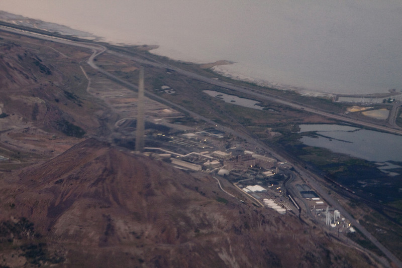 Our decent into Salt Lake City, UT. Salt mine close to the airport.