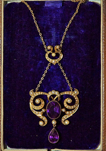 A closeup of the special pendant that Ann wore that day.
