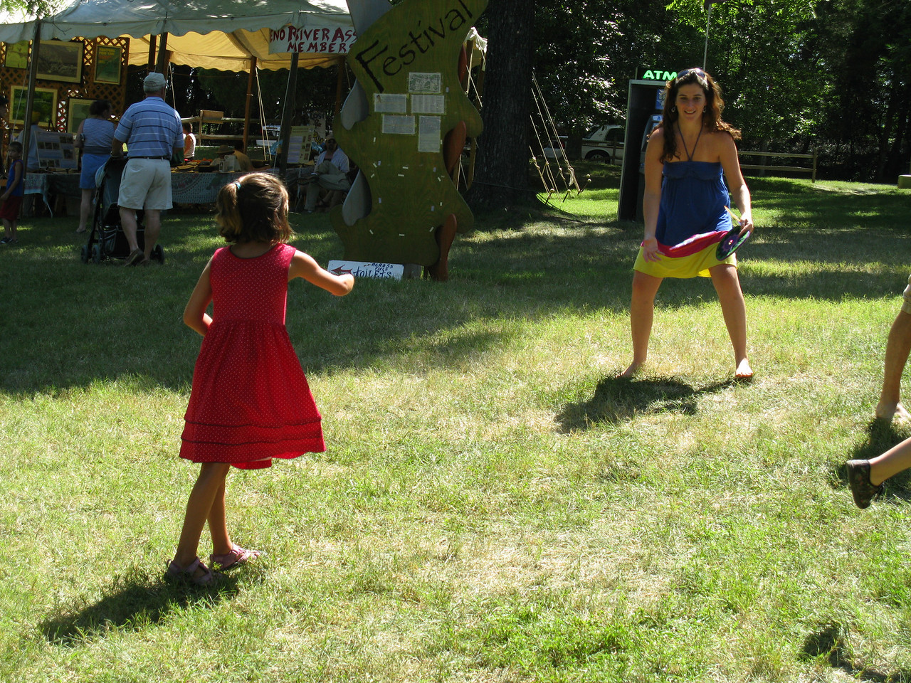 The soft Frisbees were a hit with Ella. <br /> July 4, 2009