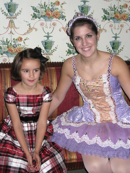 Each little girl had her picture made with the Sugar Plum Fairy.