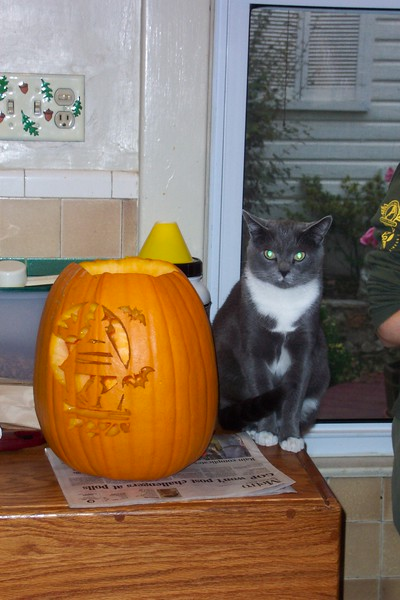 Simon is the star of the show...Halloween 2004