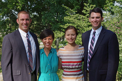 Anna, Sarah, and husbands, at the home of Charles Cantrell, Mountain View Missouri,  June 16, 2012.