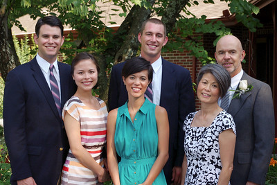 Charles and Sachiko Cantrell, daughters Anna and Sarah with their husbands. Mountain View Missouri,  June 16, 2012.