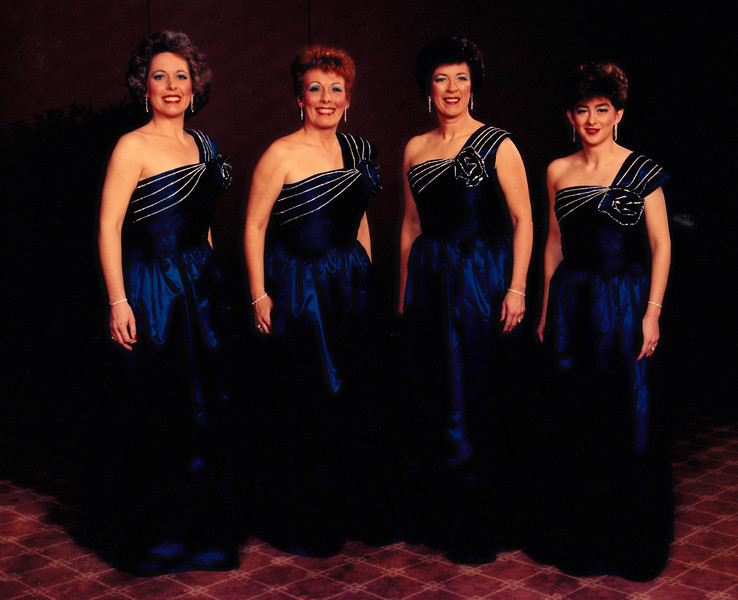 "Patti competes with her quartet, ""the eyes have it"", for the first time in March of 1987."