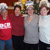 Jeane and the Bell sisters take a photo opportunity at Chef Jeane's post-race brunch.  They finished the 10-mile Hangover Classic on New Year's Day, 2011.