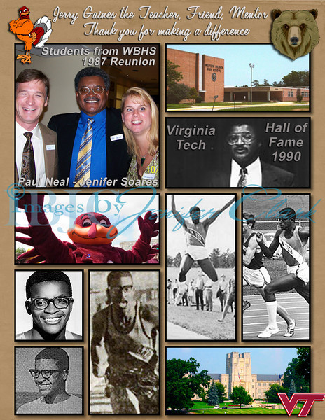 This is a tribute page to a great teacher/man from my past. The top photo is from the 20 year reunion where Mr. Jerry Gaines visited us and Paul Neal and I were chatting with him. He tought us Spanish for 4 years at Western Branch High School.