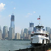 Liberty Tower in Lower Manhattan and the Miss New Jersey that brought us to the Statue of Liberty.