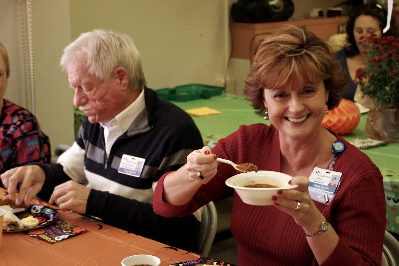 Gisele and Doug; Sharon's retirement party, 10/20/11