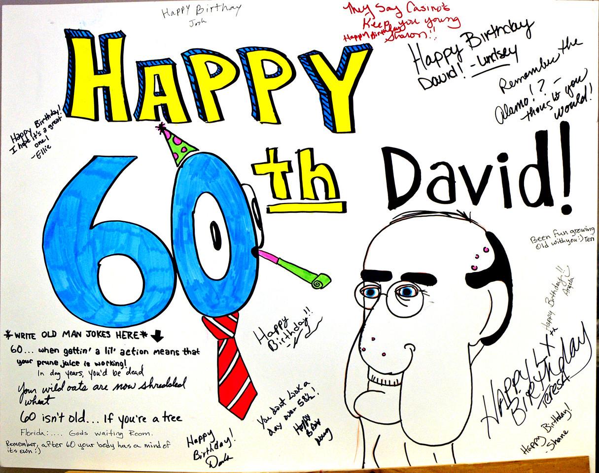 Poster, David's 60th birthday party