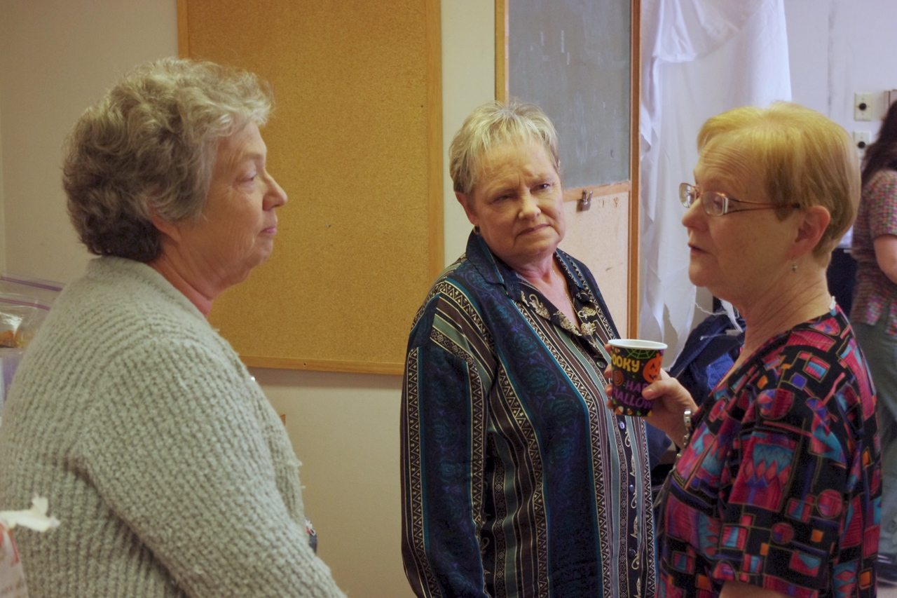 Janet, Nancy and Fran; Sharon's retirement party, lab, 10/20/11