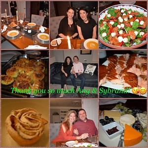 Dinner at the Van den Bergs  02/17
