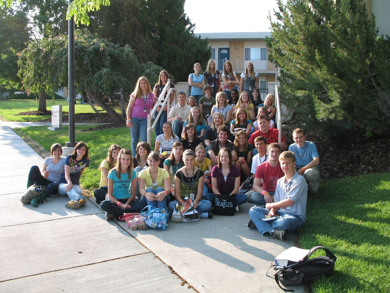 Group shot before scripture study