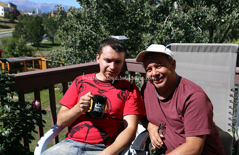 Mark had wisdom teeth out previous day...  In Colorado Springs, Colorado - September 2016