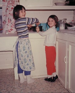 Lynn writes: We were sick w/the mumps or measles and mom still made us do our chores!!!!!