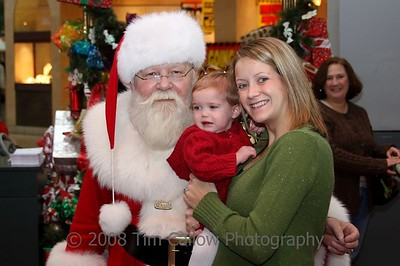Rilynn goes to see Santa