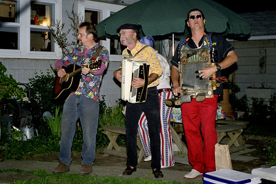 The Garbanzos, playing at Abbe's retro birthday party, April 2000.