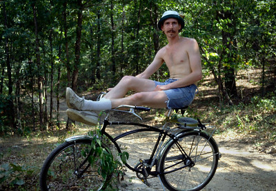 Slim cyclist. Mark Twain National Forest, Southwest Missouri. 1980.