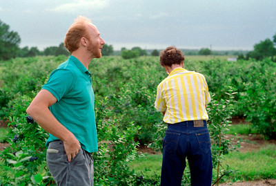 Rick and Rita in the blueberry patch.  Mid 1980s