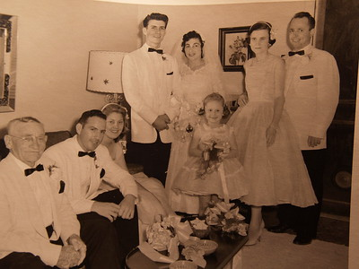 Paw Paw Roy, Ray Benefield, Flo Benefield, Gabe Sr, Betty Raggio, Charlot Morgan, Rose Marie & Walter Morgan- June 9, 1956