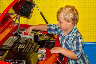 Children's Museum of Richmond w/Henry; working as automotive technician