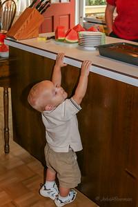 Henry on Mac's 9th Birthday - Did someone say cake?