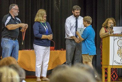 4th Grade Awards: Henry & Mr. Sulzer, Principal