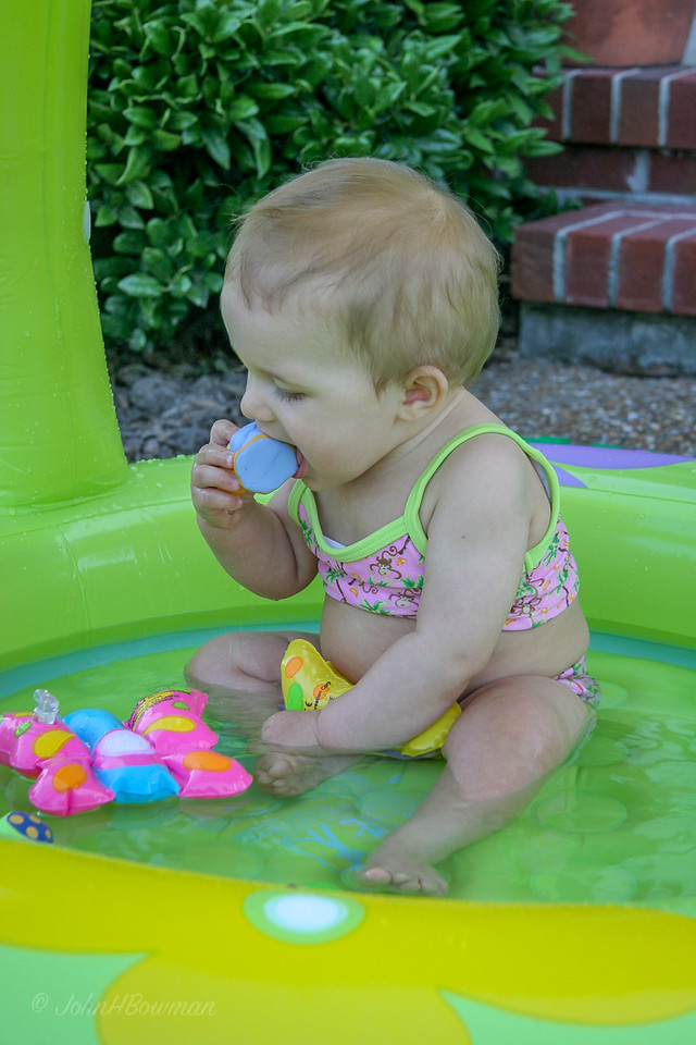 Isabella in Pool, 8-1/2 months