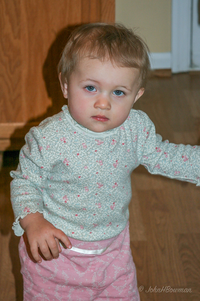 Isabella - rather tired - not quite a year old
