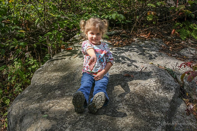 Isabella Pauses on Hike to Dark Hollow Falls