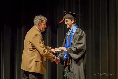 Mac - Receiving Scholarship from Mr. Watts