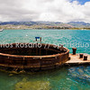 Gun barrel from the USS Arizona Memorial @ Pearl Harbor.