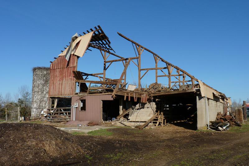 Old Barn - Henryville tornado cleanup - March 10, 2012