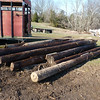 Poles that came out of the pole barn.  Henryville tornado cleanup - March 10, 2012
