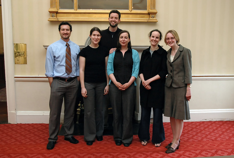 Current and former William Sampson and Thomas Addis Emmet fellows at the Royal Dublin Society on the occasion of the 21 June 2008 Public Interest Roundtable.