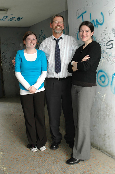 Ballymun staff outside their office.