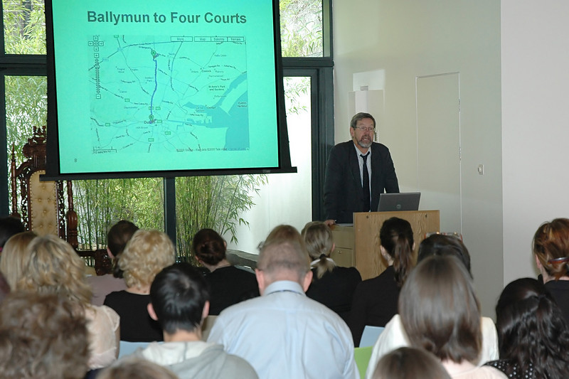 """Frank Murphy of the Ballymun Community Law Centre   <a href=""""http://www.bclc.ie/about_us/about_us.472.html"""">http://www.bclc.ie/about_us/about_us.472.html</a> speaks at the Seminar."""