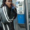 just making a quick call!  hey, they have phone booths everywhere here.