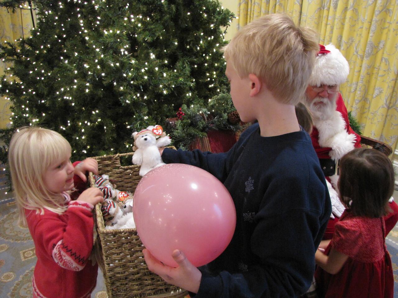 Santa gave us bears.