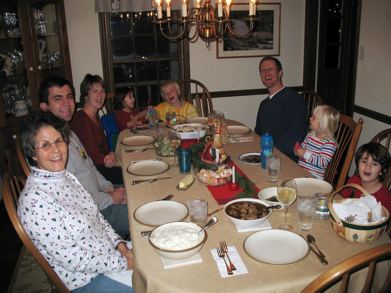 Family meals are special, especially saying the blessing together! Why isn't Papa ever in the picture?