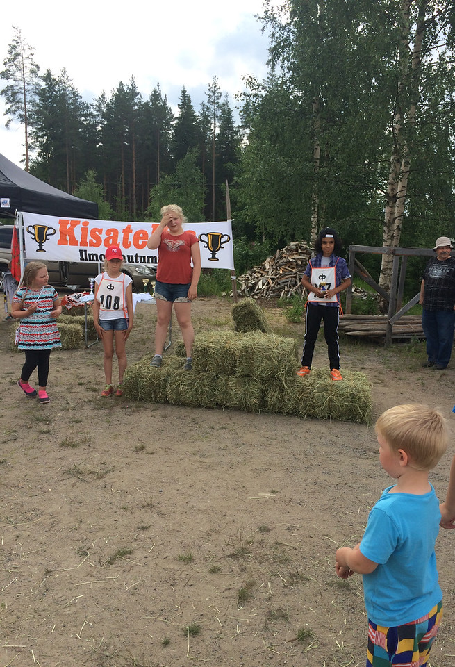 Lilja waiting for her second place award..