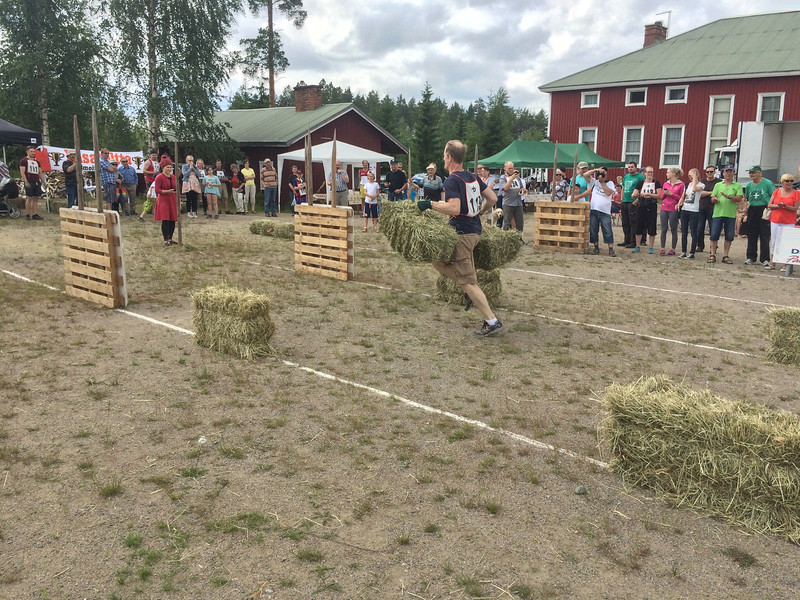Bale Races at Ruovesi, Finland
