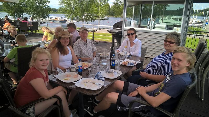 Post race celebration at Ruovesi, Finland
