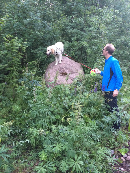 Kacey is playing King of the Mountain.. well, maybe it's Queen..