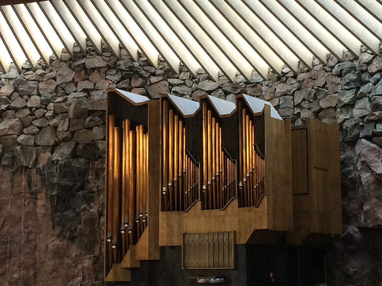 Helsinki - Church of the Rock. Finnish: Temppeliaukion kirkko