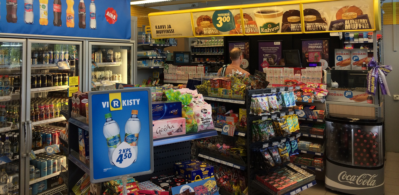 Convenience store. Stocking up for our adventure.