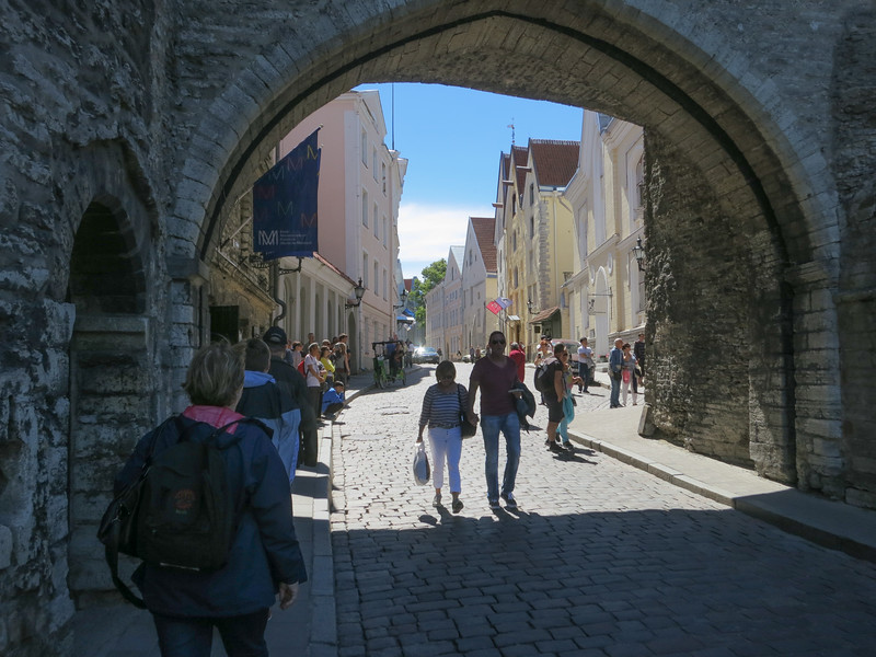 entering through the archway by the squat Fat Margaret tower, initial construction in 1265.