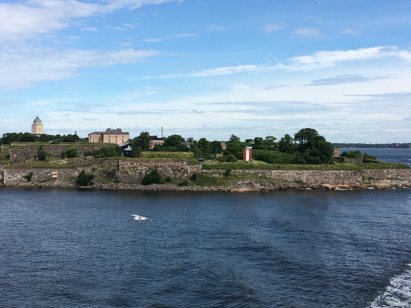 Looking back at Suomenlinna (Finnish), a sea fortress built on six islands in Helsinki.
