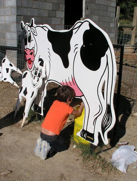 "Ella milked about a gazillion gallons of ""milk""."