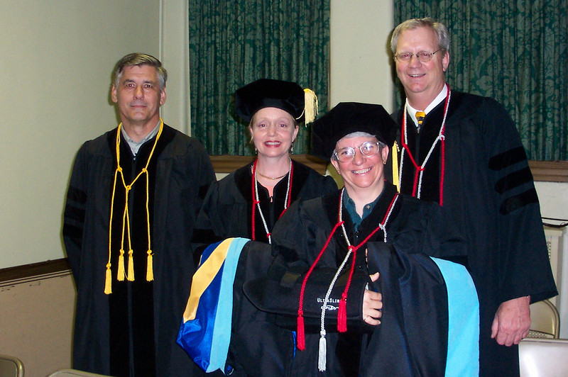 Many members of Jeane's cohort prepared for the Baccalaureate service together.