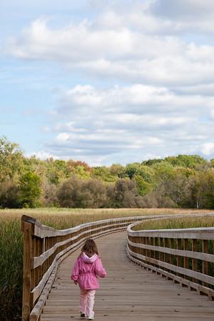 Just beginning on an adventure through the long, winding boardwalk of life.